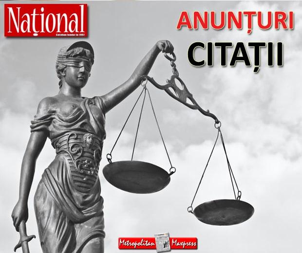 anunt ziare nationale